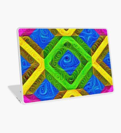 #DeepDream Color Squares Visual Areas 5x5K v1448364075 Laptop Skin