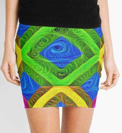 #DeepDream Color Squares Visual Areas 5x5K v1448364075 Mini Skirt