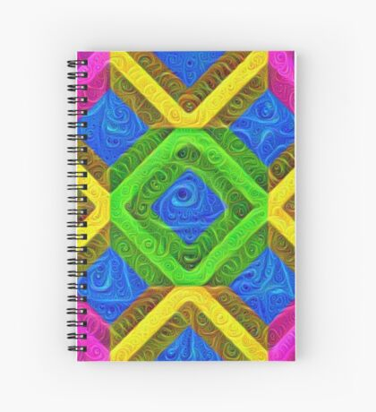#DeepDream Color Squares Visual Areas 5x5K v1448364075 Spiral Notebook