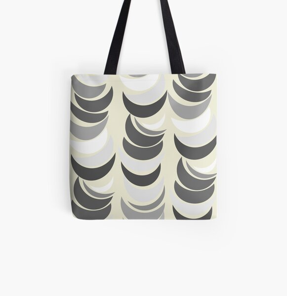 Pop Art in Neutral All Over Print Tote Bag