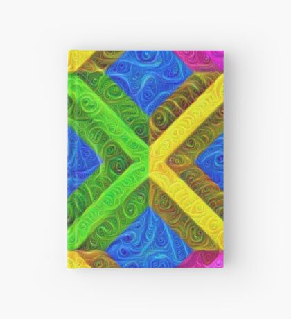 #DeepDream Color Squares Visual Areas 5x5K v1448364075 Hardcover Journal
