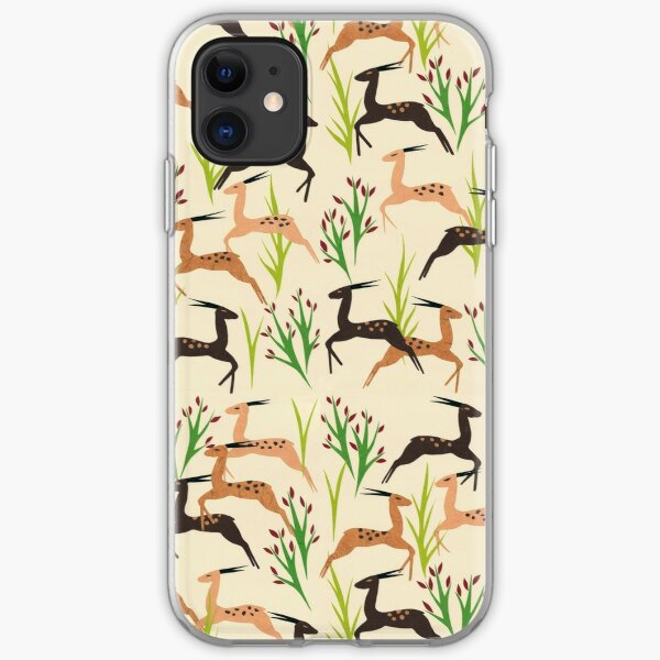 Ivory Leaping Deer iPhone Soft Case