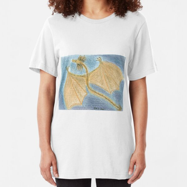 Golden Dragon Tee and Stickers Slim Fit T-Shirt
