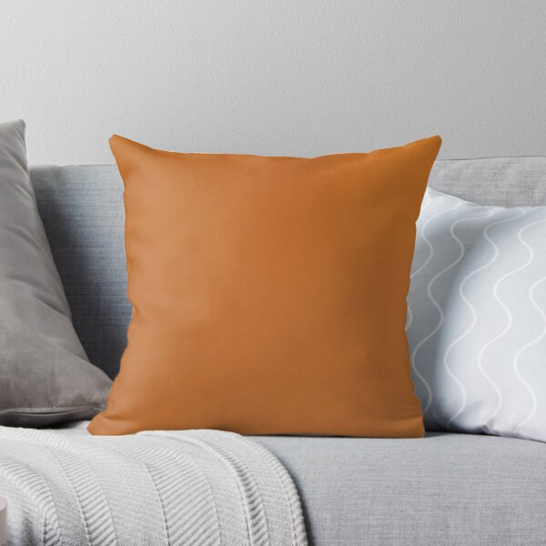 Brown leather Throw Pillow