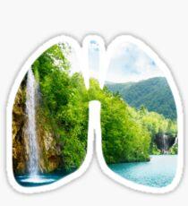 Lungs of fresh air Sticker