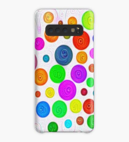 #DeepDream Color Circles Visual Areas 5x5K v1448374069 Case/Skin for Samsung Galaxy