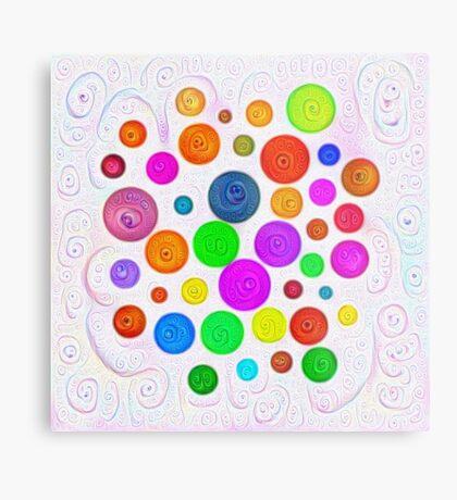 #DeepDream Color Circles Visual Areas 5x5K v1448374069 Metal Print