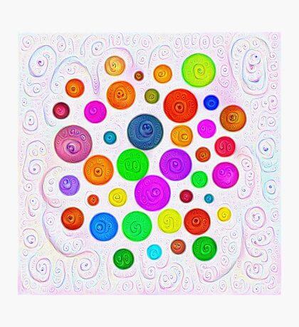 #DeepDream Color Circles Visual Areas 5x5K v1448374069 Photographic Print