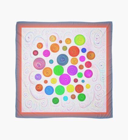 #DeepDream Color Circles Visual Areas 5x5K v1448374069 Scarf