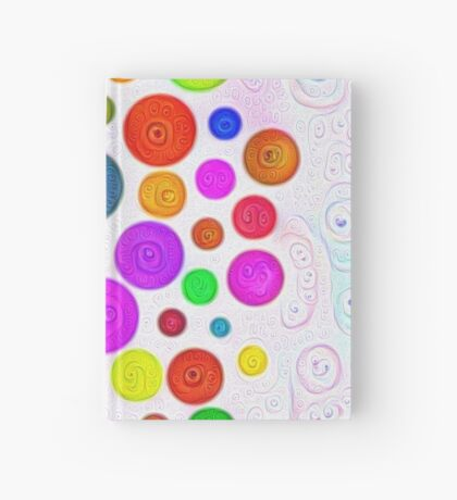 #DeepDream Color Circles Visual Areas 5x5K v1448374069 Hardcover Journal