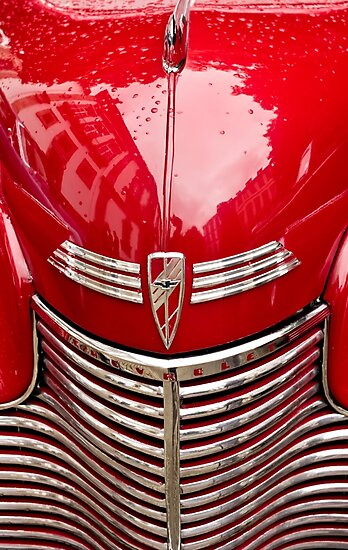red chevy car abstract by Ingrid Beddoes