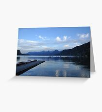Alpine Serenity and Reflections Greeting Card