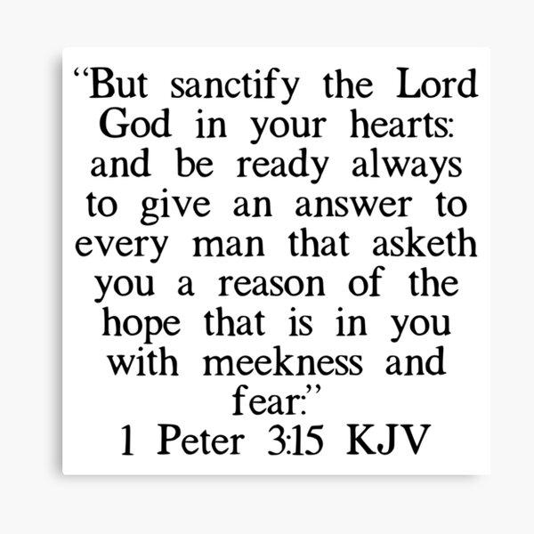 1 Pedro 3:15 RV Lienzo