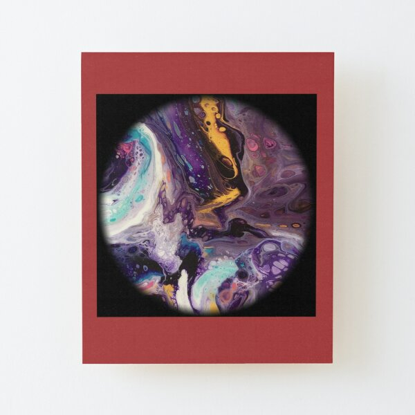 Fluid planet 4 Wood Mounted Print