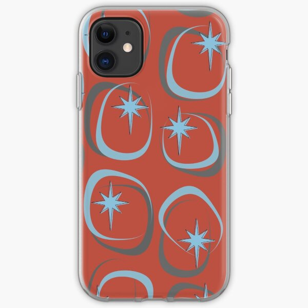 Blue Star (on Red) iPhone Soft Case