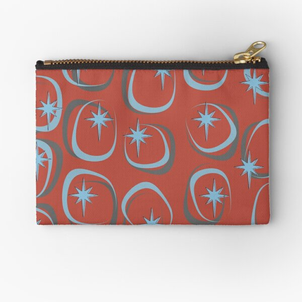 Blue Star (on Red) Zipper Pouch