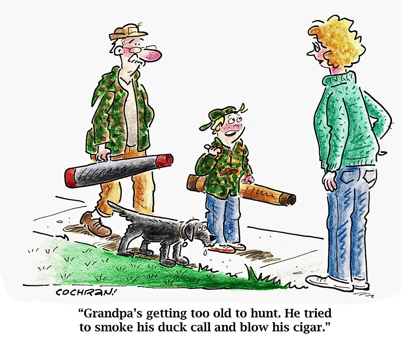 Quot Cartoon Grandpa S Too Old Quot By Brucecochran Redbubble