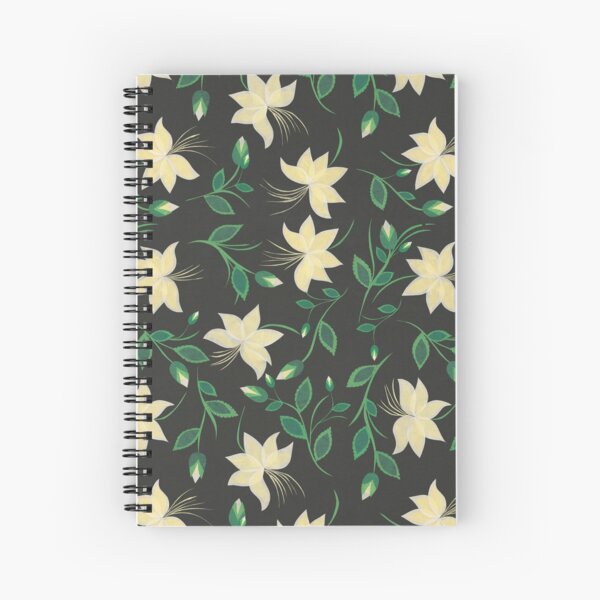 Ivory Nouveau Blooms Spiral Notebook