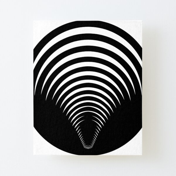 Concentric Shrinking Circles концентрические уменьшающиеся круги Canvas Mounted Print