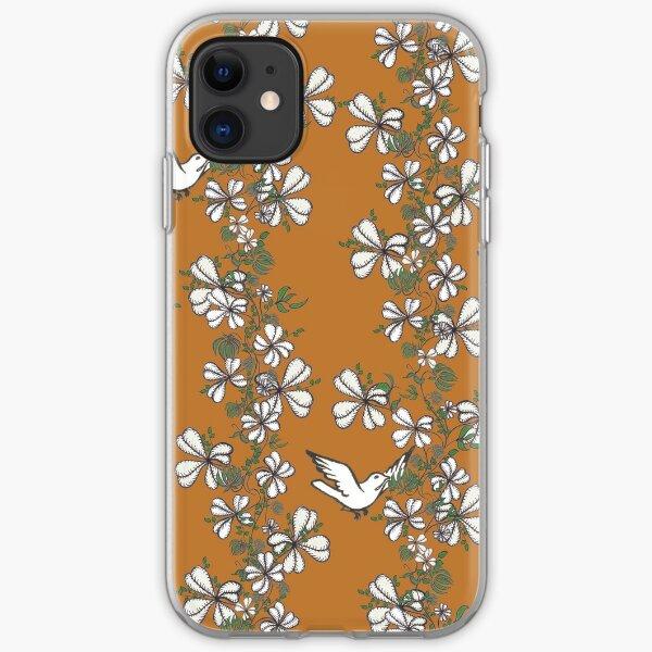 Bird Vine (Orange) iPhone Soft Case