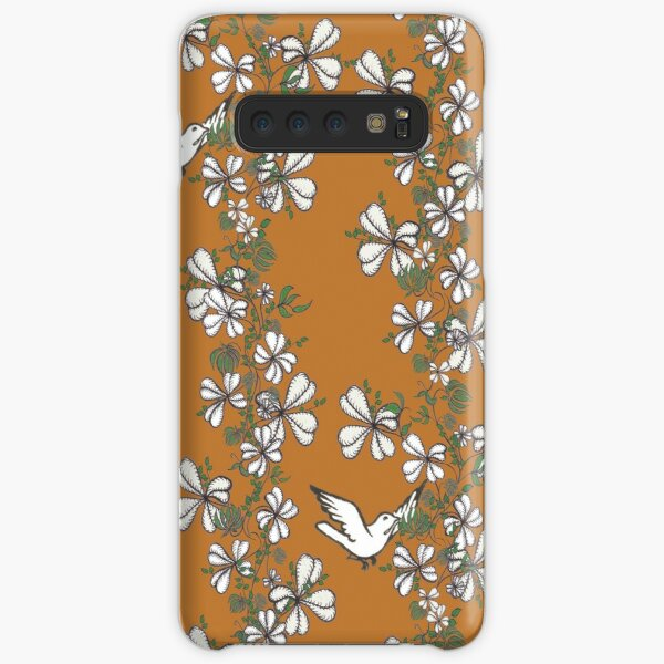 Bird Vine (Orange) Samsung Galaxy Snap Case