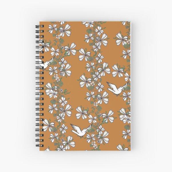 Bird Vine (Orange) Spiral Notebook