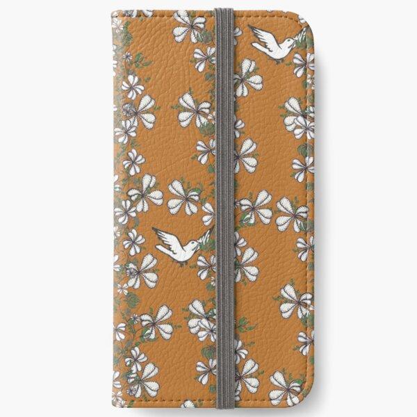 Bird Vine (Orange) iPhone Wallet