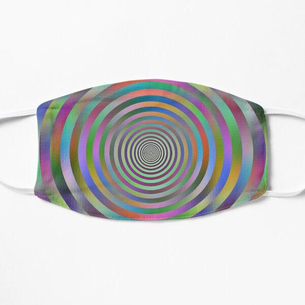 Concentric Shrinking Circles концентрические уменьшающиеся круги Flat Mask