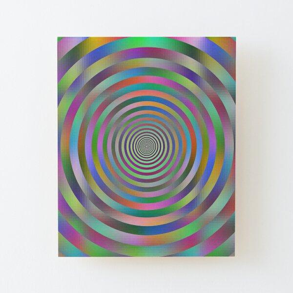 Concentric Shrinking Circles концентрические уменьшающиеся круги Wood Mounted Print