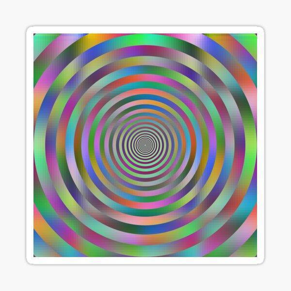 Concentric Shrinking Circles концентрические уменьшающиеся круги Sticker