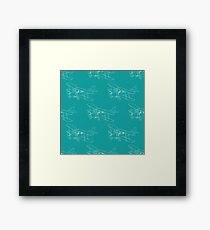 Pattern with hand drawn airplanes Framed Print