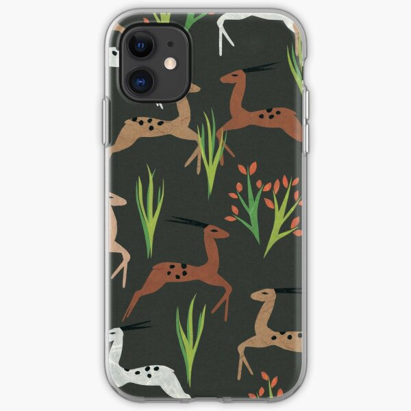 Leaping Deer (Mahogany) iPhone Soft Case