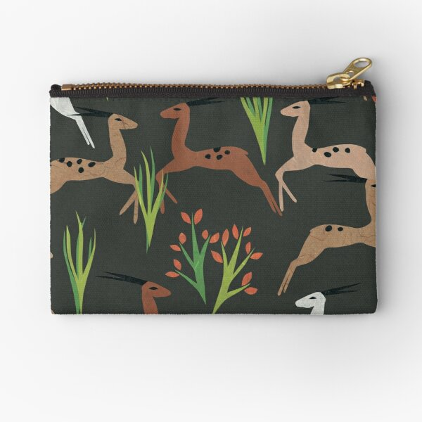 Leaping Deer (Mahogany) Zipper Pouch