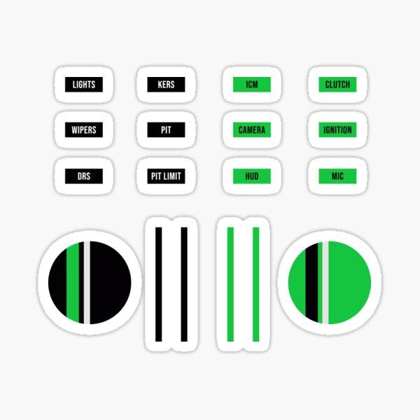 SimRig sticker set - Green/Black Sticker