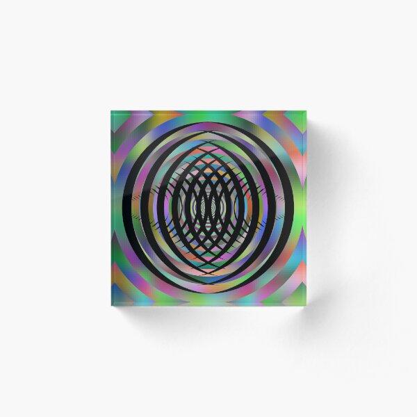 Concentric Shrinking Circles концентрические уменьшающиеся круги Acrylic Block