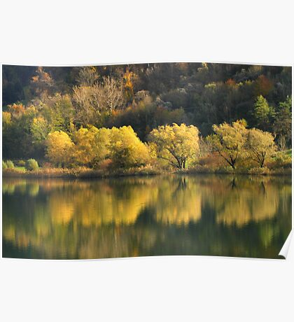 Autumn at Lake Endine Poster