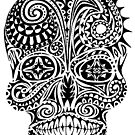 Tribal Pattern Skull by one-in-the-eye