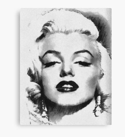 Marilyn -Grayscale  Canvas Print