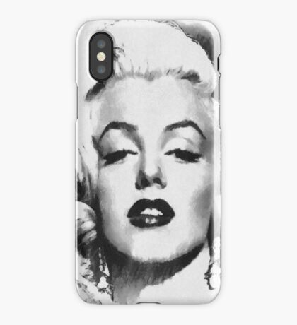 Marilyn -Grayscale  iPhone Case