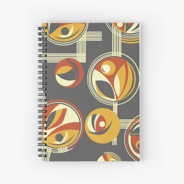 Fab Deco (Red) Spiral Notebook