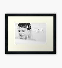 Autism Awareness Framed Print