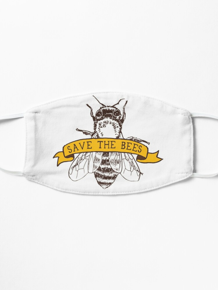 Alternate view of Save The Bees! Mask
