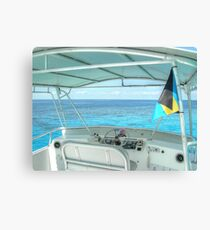 Somewhere Out West of New Providence Island in The Bahamas Canvas Print