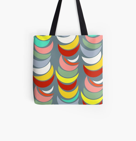 Pop Art on Grey All Over Print Tote Bag