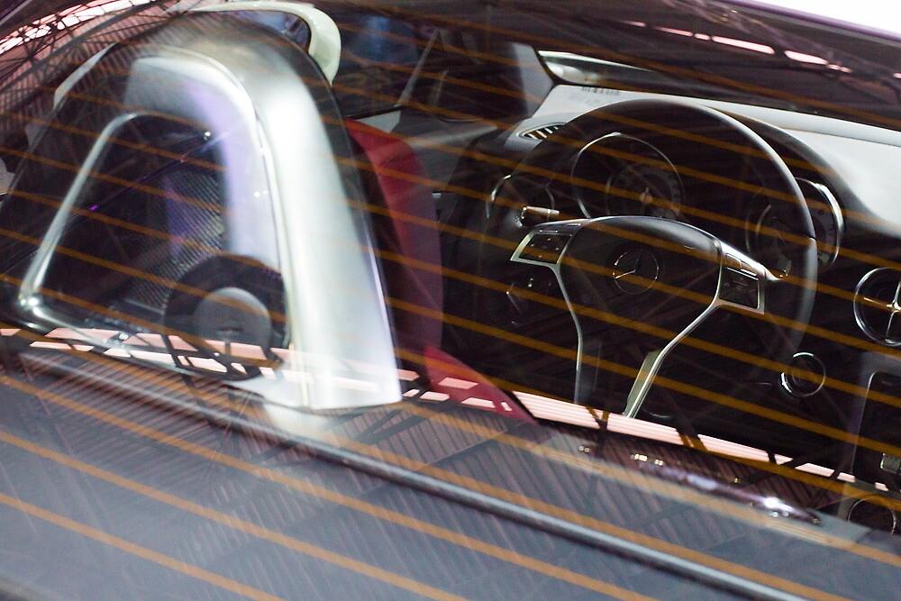 Mercedes-Benz SLK 250 Turbo Steering Wheel [ Print & iPad / iPod / iPhone Case ] by Mauricio Santana