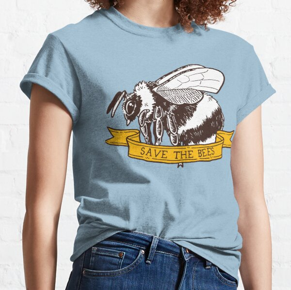 Save The Bees! (Bumble Bee - Flying) Classic T-Shirt