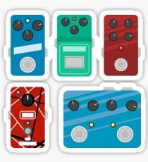 Flat Guitar Pedals - Mini Set #1 Sticker