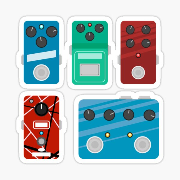 Flat Guitar Pedals - Mini Set #1 Sticker
