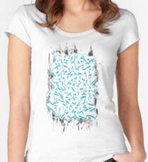 Graffiti Alphabet Women's Fitted Scoop T-Shirt