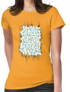 Graffiti Alphabet Womens Fitted T-Shirt